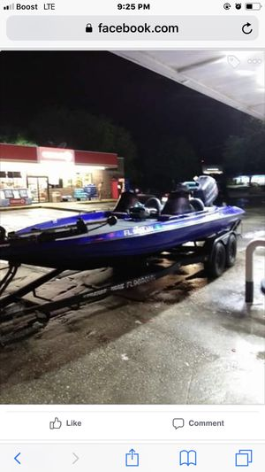 1996 Stratus 201xp 21 ft bass boat with evenrude 225 with very low hours for Sale in Alafaya, FL