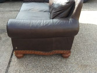 Real Leather Couch And Office Desk for Sale in Houston,  TX