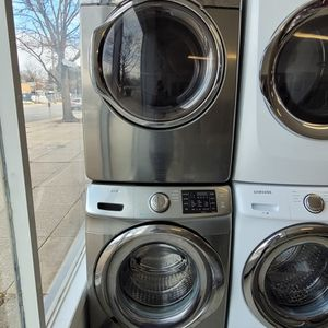 Samsung Front Load Washer And Electric Dryer Set Used In Good Condition With 90day's Warranty for Sale in Washington, DC