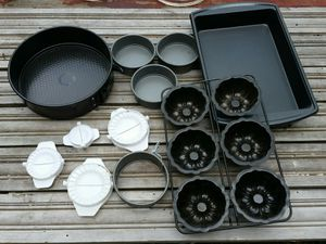 Big Lot cooking baking supplies brownie pan cake pan Shapers Etc for Sale in Stewartsville, NJ