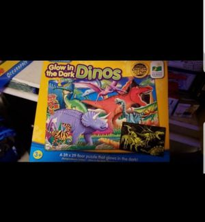 Glow in the dark dinosaur puzzle for Sale in Federal Way, WA