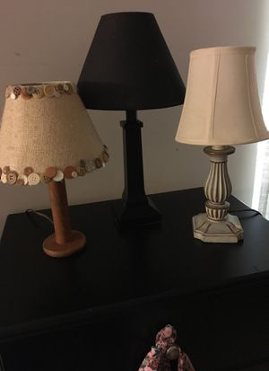 Three small lamps for Sale in Newark, OH