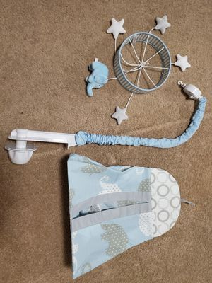 Baby Boy Crib Mobile and Diaper Holder Elephant theme for Sale in Orlando, FL