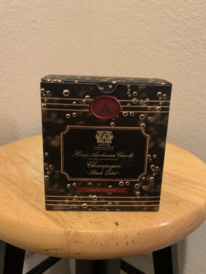 NEW ANTICA FARMACISTA 9OZ BLACK LABEL CHAMPAGNE CANDLE for Sale in Las Vegas, NV