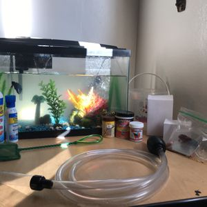 Fish Tank 10 Gallons / 20 $ For It Good Price for Sale in Anaheim, CA
