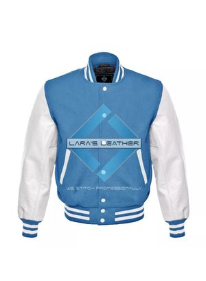 Top Baseball Varsity College Wool Jacket with Real Leather Sleeves M size for Sale in Springfield, VA