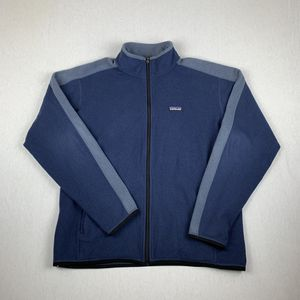 Patagonia Full Zip Navy Blue Grey Fleece Sweater Size Large for Sale in Los Angeles, CA