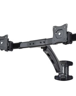 """VIVO Dual Monitor Wall Mount Height Adjustable Stand Black Deluxe Gas Spring 2 LCD Screens up to 24"""" for Sale in San Diego,  CA"""