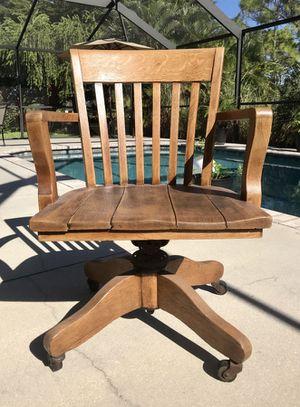 Antique oak postmasters desk chair for Sale for sale  Cape Coral, FL