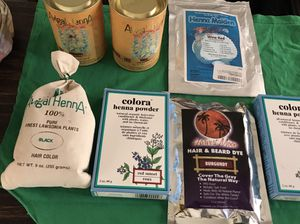 Box full of Henna natural hair color product for Sale in Los Angeles, CA