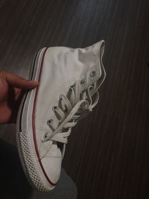 Size 9 in women all white Converse for Sale in Denver, CO