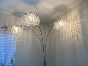 Arc Floor Lamp with Poly Crystal Shades Chrome for Sale in Pumpkin Center, CA