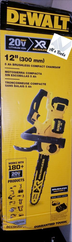 DeWalt XR 20 volt brushless 12in Electric chainsaw with 5.0 battery and charger new for Sale in Norwalk, CA