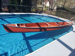 Ramx17 17ft canoe and trolling motor for Sale in Spring Hill, FL