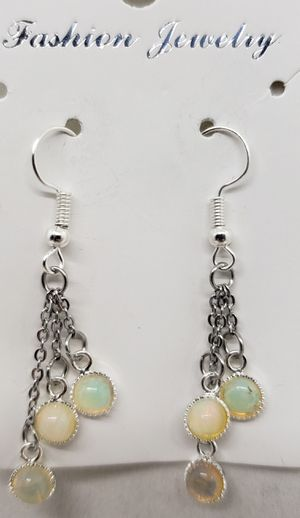 Natural Opal & Moonstone Dangle Earrings for Sale in Justin, TX