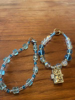 Two blue topaz color bracelets for Sale in Alexandria, VA