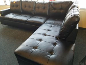 Black Modern Sectional w/ Optional Ottoman for Sale in West Valley City, UT