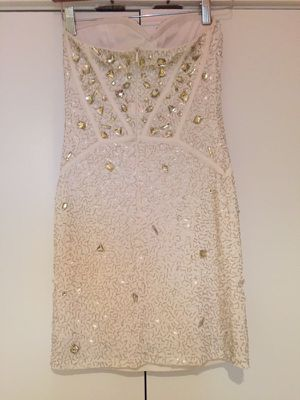 White Beaded cocktail dress by Arden B for Sale in Alexandria, VA