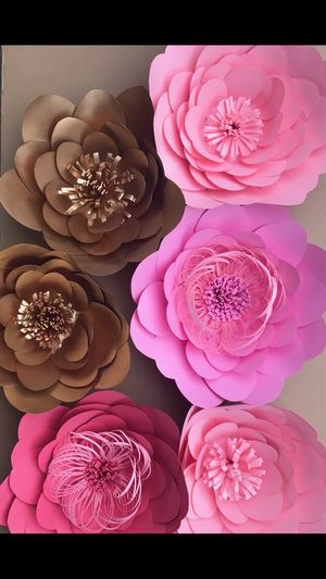 Paper flowers - backdrop for Sale in Whittier, CA