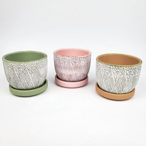 Set of 3 Terra Cotta Planting Pots for Sale in Brooklyn, NY