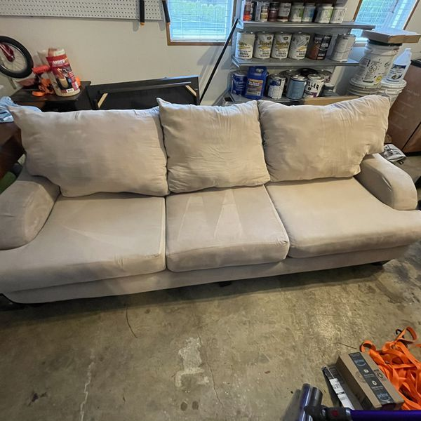 Large Clean Micro Fiber Couch