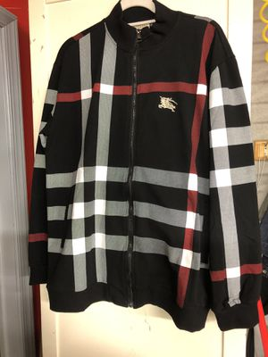 Men's Burberry track suit jacket and pants for Sale in Philadelphia, PA