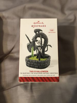 The Nightmare Before Christmas This Is Halloween Hallmark Ornament for Sale in Chandler, AZ