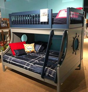 Twin Full size Bunk bed 2 FREE MATTRESS for Sale in Las Vegas, NV