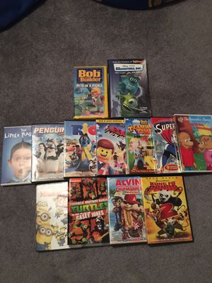 11 kids dvds and 2 VHS for Sale in Tullahoma, TN