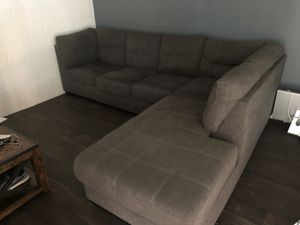 Large comfy grey sectional couch for Sale in Phoenix, AZ