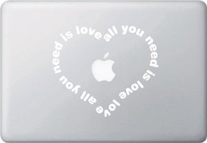 Need Love Macbook Sticker Decal for Sale in Lakeside, CA