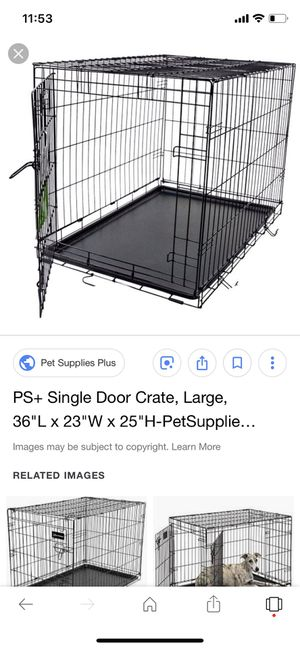 Large dog dog crate for Sale in Dearborn Heights, MI