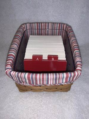 Longaberger address card Rolodex basket with liner for Sale in North Chesterfield, VA