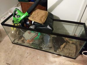 55 gallon glass aquarium used to house reptiles. Just the tank is available. Contents within are not for sale. for Sale in Alexandria, VA