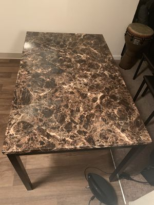 Granite Medium-Size Kitchen Dining Table w/3 Leather Chairs Included! for Sale in Seattle, WA