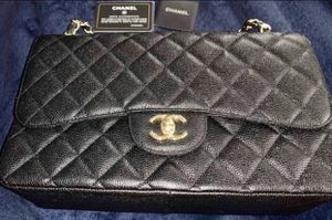 Chanel Jumbo Classic Flap Black Caviar Gold Hardware for Sale in Elk Grove, CA