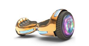"""Flash Wheel Certified Hoverboard 6.5"""" Bluetooth Speaker with LED Light Self Balancing Wheel Electric Scooter - Chrome Orange for Sale in Tamarac, FL"""