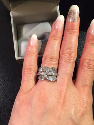 18K Gold plated Ring - baguette Cut Diamonds -Emerald for Sale in San Jose, CA