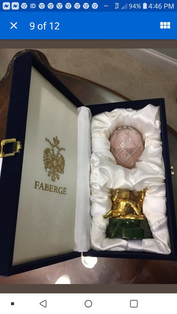 Faberge egg very rare in instrumen this condition