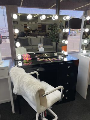 BLACK MAKEUP VANITY FINANCE AVAILABLE for Sale in Mesa, AZ
