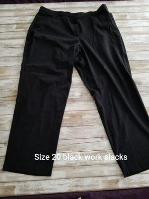 Size 20 black work pants for Sale in Murfreesboro, TN