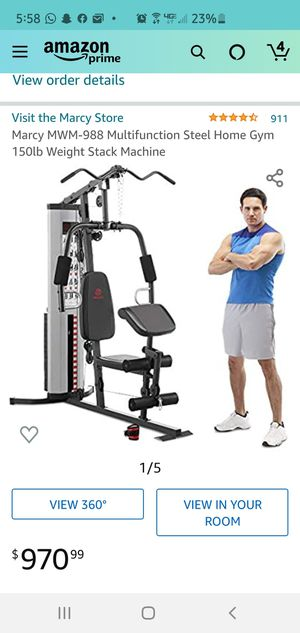 Marcy MWM-988 Multifunction Steel Home Gym 150lb Weight Stack Machine for Sale in Temecula, CA