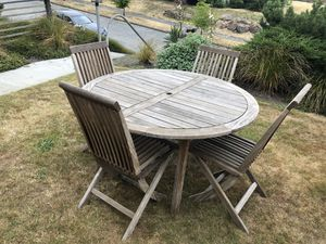 5pc Teak Outdoor Dining Patio Set for Sale in Seattle, WA