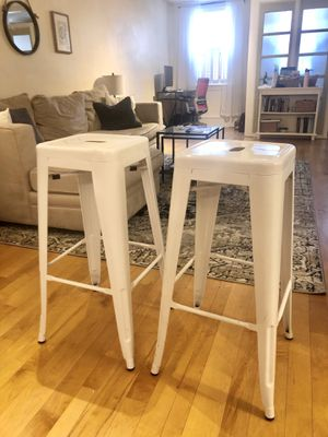 """Two 30"""" White Metal Bar Stools for Sale in Philadelphia, PA"""