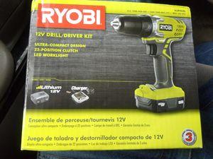 Ryobi 12v drill/driver kit for Sale in Grayson, GA