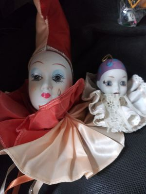 Clowns, Precious Moments, vintage odds n ends for Sale in Turlock, CA