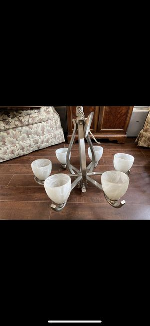 Beautiful Nickel chandelier for Sale in Glendale, CA