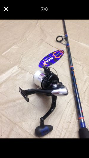 NEW Offshore Angler Power Plus Reel Anti-Reverse 3-bearing (has new spun line) PLUS NEW Mako Hurricane 7' Rod READY TO FISH No refuunds no returns for Sale in Pembroke Pines, FL