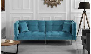Sea blue Futon -Excellent Condition for Sale in Phoenix, AZ
