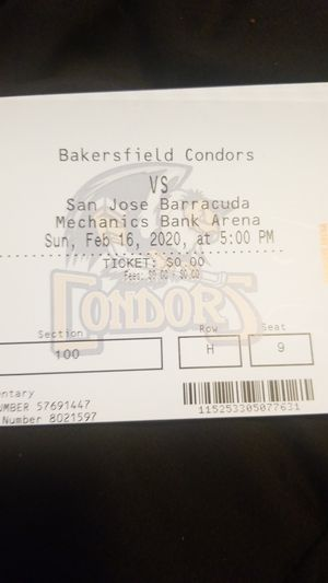 Four pack condors tickets for tonight for Sale in undefined